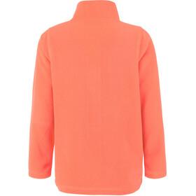 Color Kids Tembing Fleece Jacket Kids fiery coral